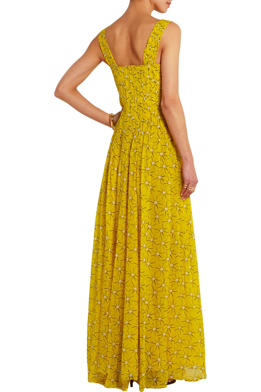Diane von Furstenberg Lillie printed silk-georgette gown
