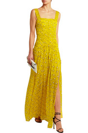 Lillie printed silk-georgette gown