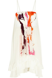 Diane von Furstenberg Sybil pleated printed silk-georgette dress