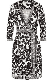 Tallulah printed silk-jersey wrap dress