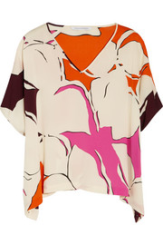 Diane von Furstenberg Adria printed stretch-silk top