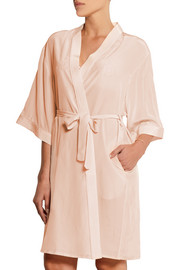 Puffin silk crepe de chine robe