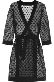 Rockhopper Penguin polka-dot lace robe