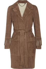 Belstaff Fringed suede coat