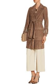 Fringed suede coat
