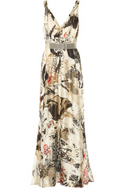 Donna Karan New York Printed silk gown