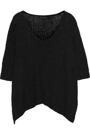 Open-knit linen and silk-blend sweater