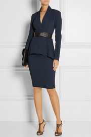 Donna Karan Belted stretch linen-blend jacket