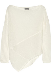 Donna Karan New York Open-knit linen sweater