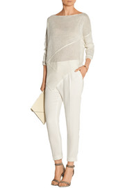 Donna Karan Open-knit linen sweater