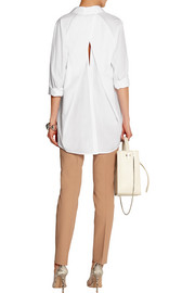 Donna Karan Open-back cotton-poplin shirt