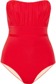 Deauville gathered bandeau swimsuit