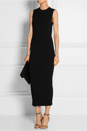 Ribbed-knit maxi dress