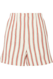 Pedro del Hierro Madrid Striped linen and cotton-blend shorts