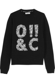 ASCII crystal-embellished cotton-jersey sweatshirt