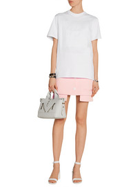 Mallory asymmetric twill mini skirt