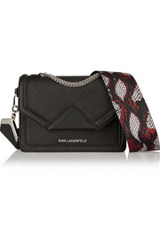 Karl Lagerfeld K/Rock mini textured-leather shoulder bag