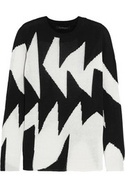 Thakoon Intarsia linen and cotton-blend sweater