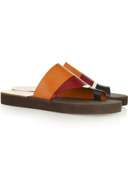 Chloé Color-block leather sandals