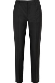 Kong Super 100 wool-twill slim-leg pants