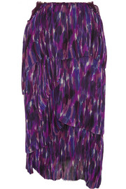 Burberry Prorsum Tiered printed silk skirt