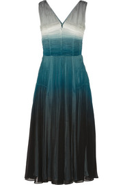 Dégradé silk-crepe midi dress
