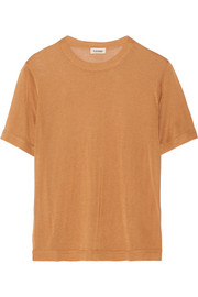 Tazzarine fine-knit jersey top