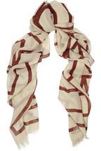 Khalifa oversized silk-georgette scarf