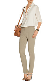 Michael Kors Samantha stretch-wool twill skinny pants