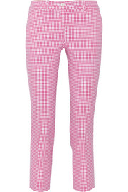 Samantha gingham stretch-cotton skinny pants