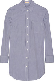 Michael Kors Gingham cotton-poplin shirt