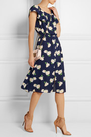 Michael Kors Floral-print silk-crepe midi dress