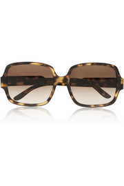 Stella McCartney Square-frame matte acetate sunglasses