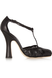 Bottega Veneta Woven leather Mary Jane pumps