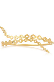 Gold-plated arm cuff