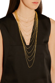 Sphere gold-plated necklace