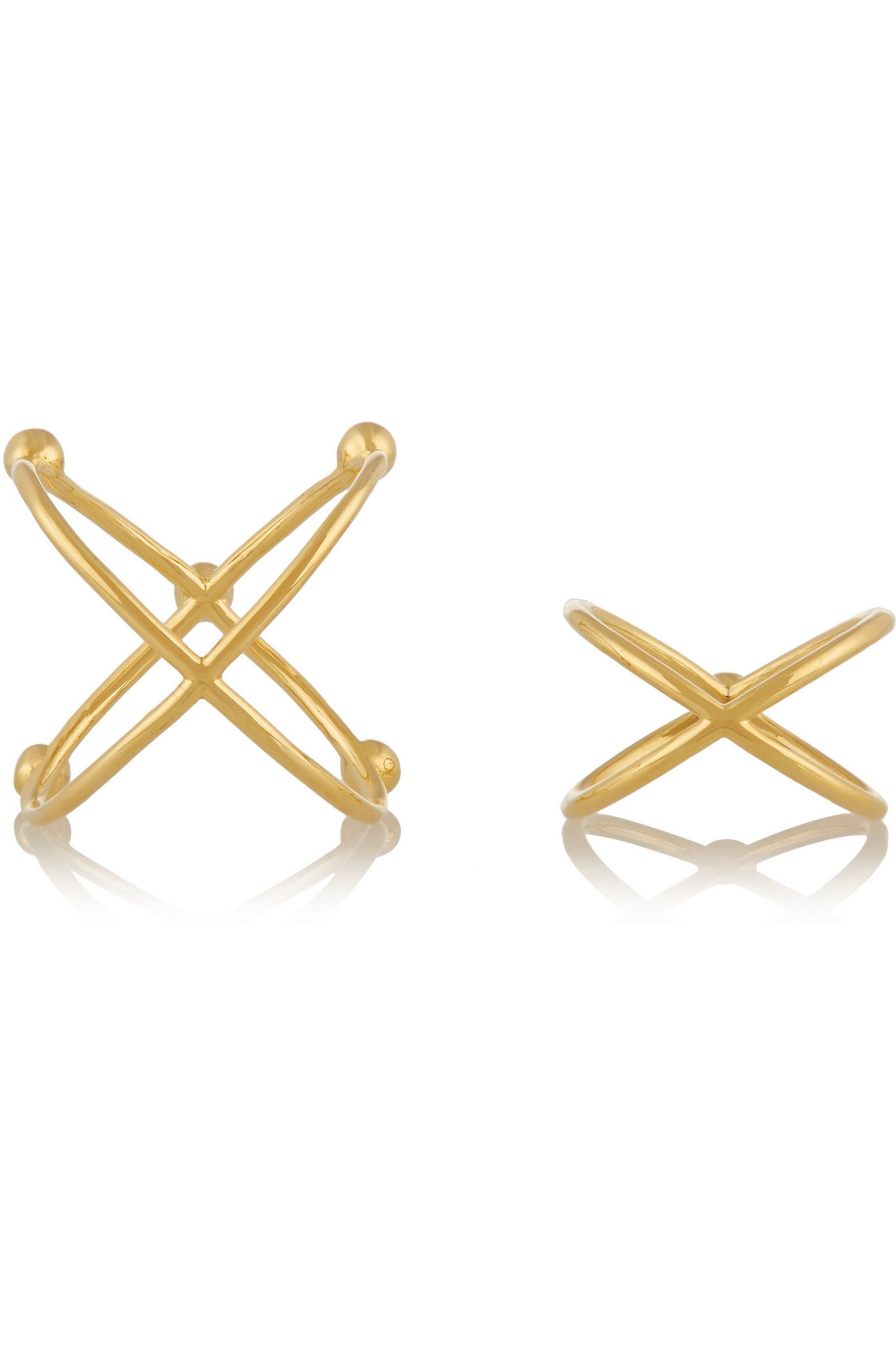 Arme De L'Amour Set of two gold-plated rings