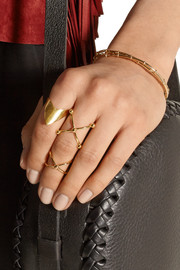Set of two gold-plated rings