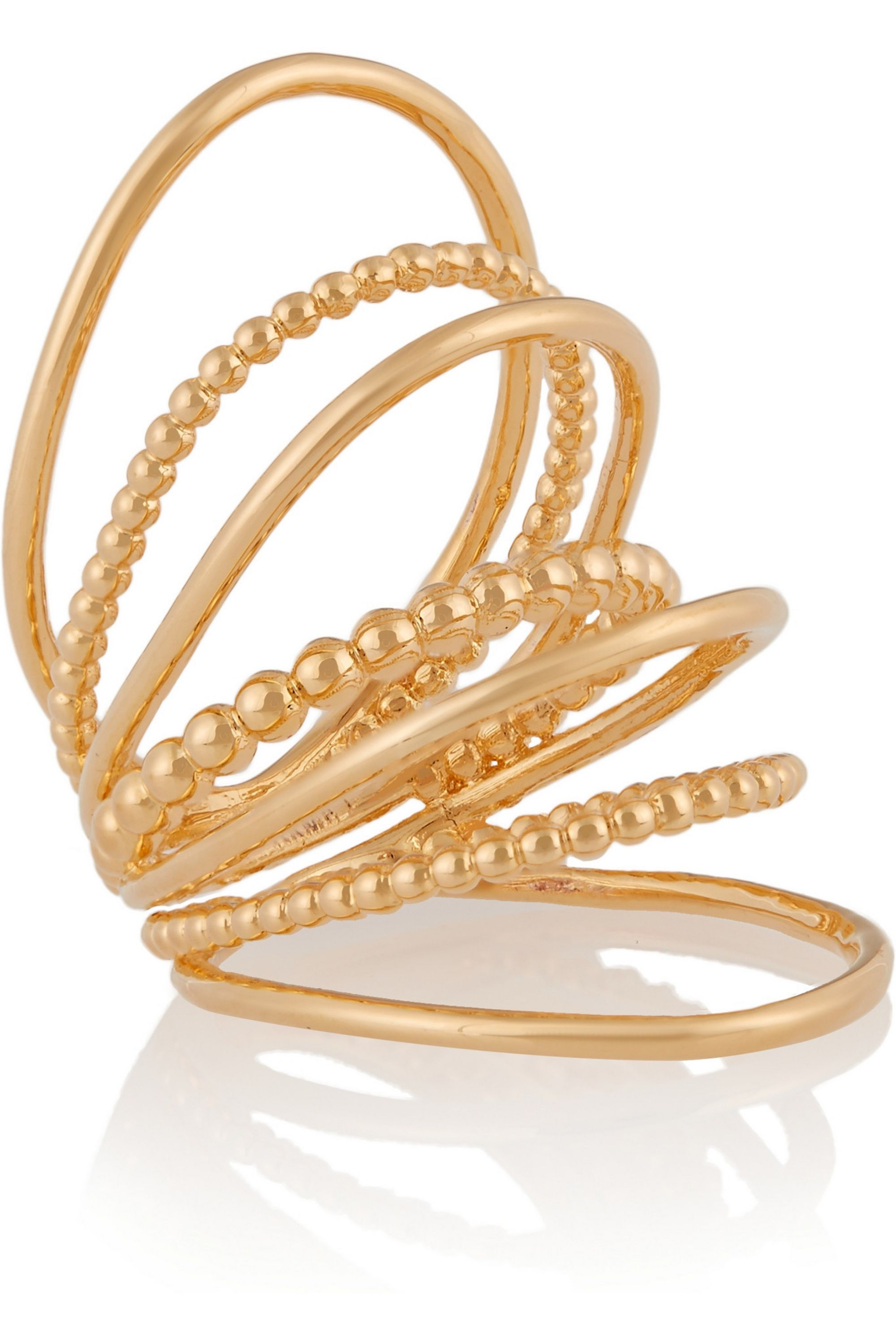 Arme De L'Amour Gold-plated multi-sphere ring