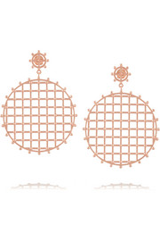 Rose gold-plated earrings