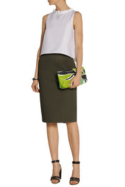 Burberry Prorsum Printed leather clutch