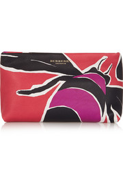 Burberry Prorsum Printed textured-leather clutch