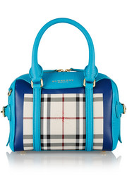 Burberry Prorsum Little Bee checked coated-canvas and leather tote