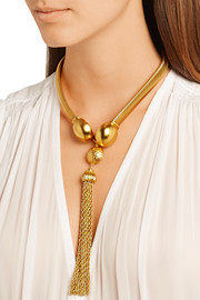 Gold-plated tassel necklace