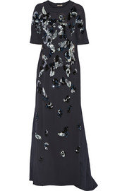 Bottega Veneta Embellished cady and duchesse-satin gown