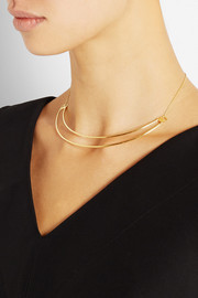 Maria Black Love Bite gold-plated necklace