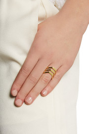 Maria Black Trinity gold-plated ring