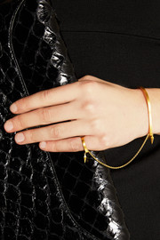 Maria Black Philo gold-plated finger bracelet