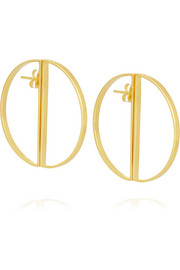 Maria Black Half Hoop gold-plated earrings