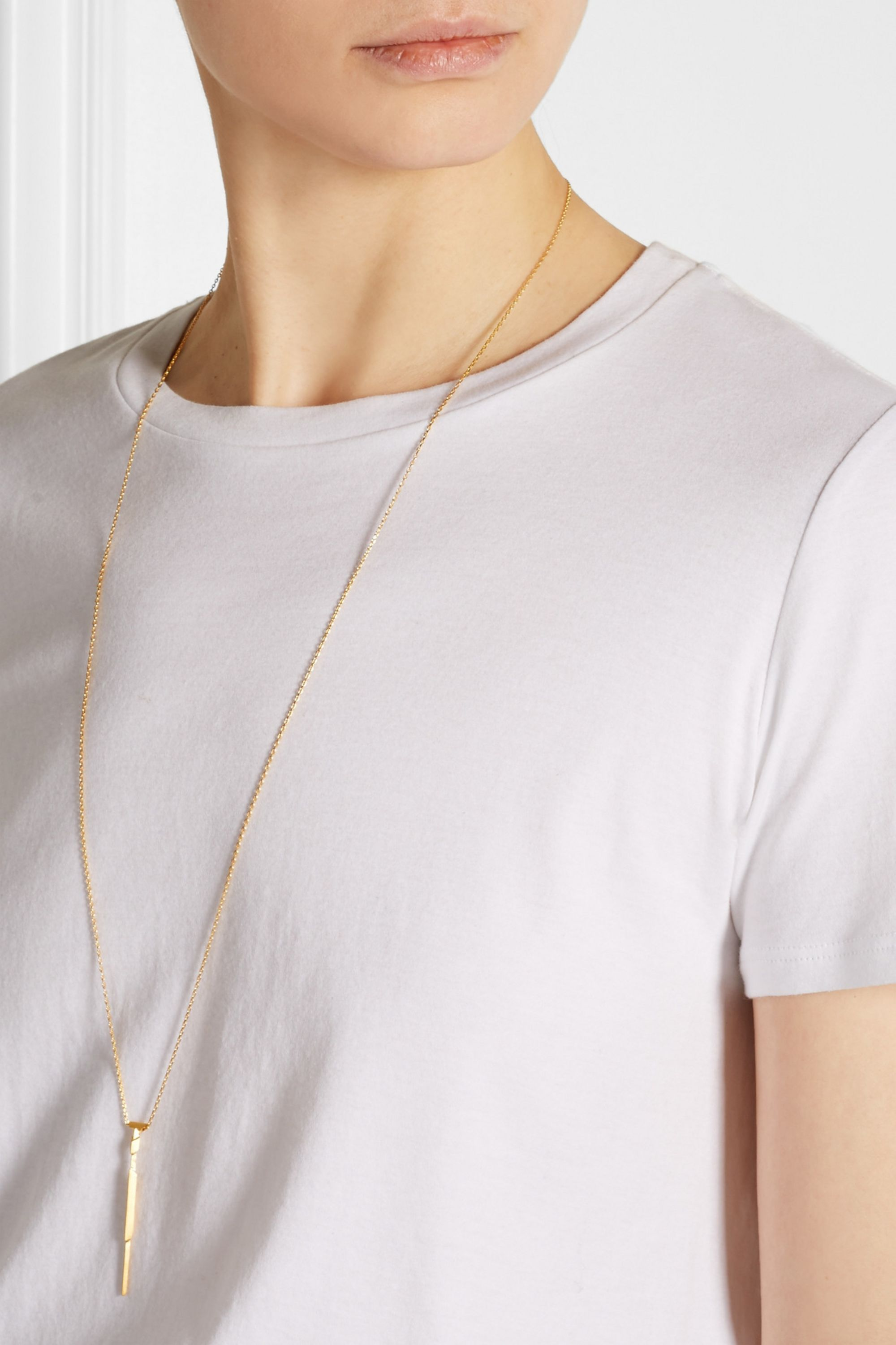 Maria Black Arrow gold-plated necklace